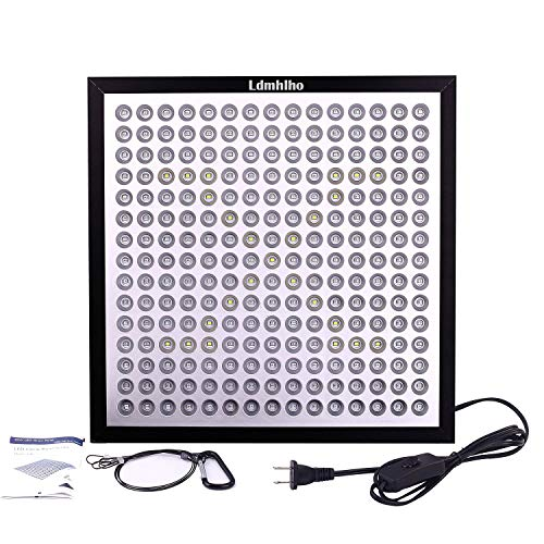 Ldmhlho LED Grow Light, Ultra-Thin & Ultra-Light 45W 225 LEDs Indoor Plants Growing Panel Lamp with 6-Band Full Spectrum Include UV IR for Germination,Vegetative, Flowering