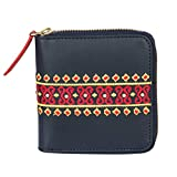 Chumbak Aztec Embroidered Mini Wallet - Navy Blue