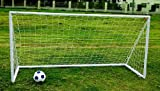 Charles Bentley Junior 8ftx4ft Plastic Portable White Football Goal Inc. Net