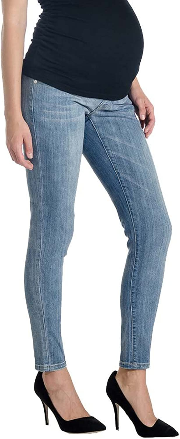 purplec Skinny 5 Pocket Maternity Jeans  Light Wash