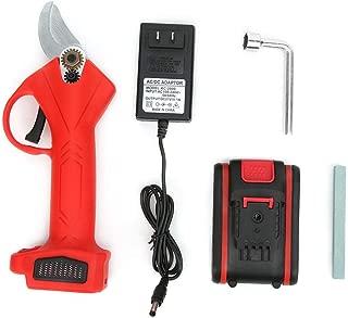 2 bater/ías 1 adaptador Tijeras de podar el/éctricas cortadora de ramas el/éctrica de 21V Tijeras de podar de bater/ía de litio Herramienta de poda inal/ámbrica