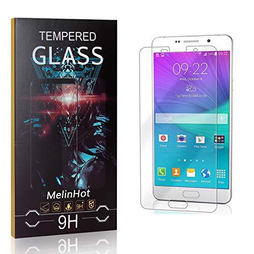 Displayschutzfolie für Galaxy A7 2016, MelinHot Blasenfrei Schutzfilm aus Gehärtetem Glas für Samsung Galaxy A7 2016, 9H Härte, Kratzfest, 99% Transparenz, 2 Stück