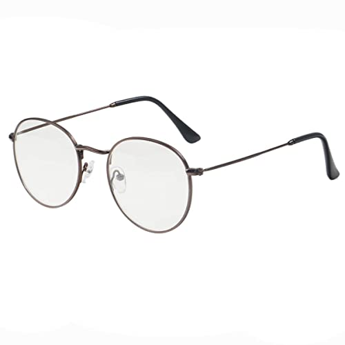 a56b38b326 Simvey Classic Vintage Round Circle Metal Glasses Frame Clear Lens