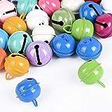30pcs Cascabeles Metal Colores para Navidad Decoración Manualidades Diy Creativos Diámetro 22mm 15 Colores