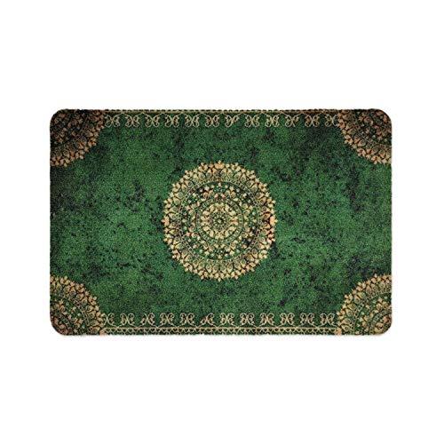 deco-mat Paillasson pour Porte d'entrée Vert • intérieur et extérieur • Tapis antidérapants lavables Tapis • 50 x 70 cm
