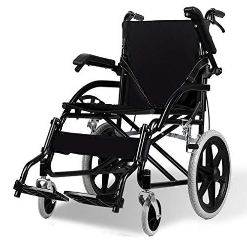 Cajolg Faltbarer Rollstuhl Tragbarer Rollstuhl Licht- Und Manueller Rollstuhl FüR Behinderte Und äLtere Menschen Geringer Platzbedarf Und Leicht Zu Tragen