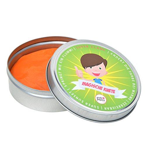 Pink Papaya Magische Knete - Super Flame - Fidget Knete wechselt die Farbe Rot/Orange, Farbwechsel, das intelligente Knetgummi, BPA Free - in vielen Farben mit verschiedenen Eigenschaften