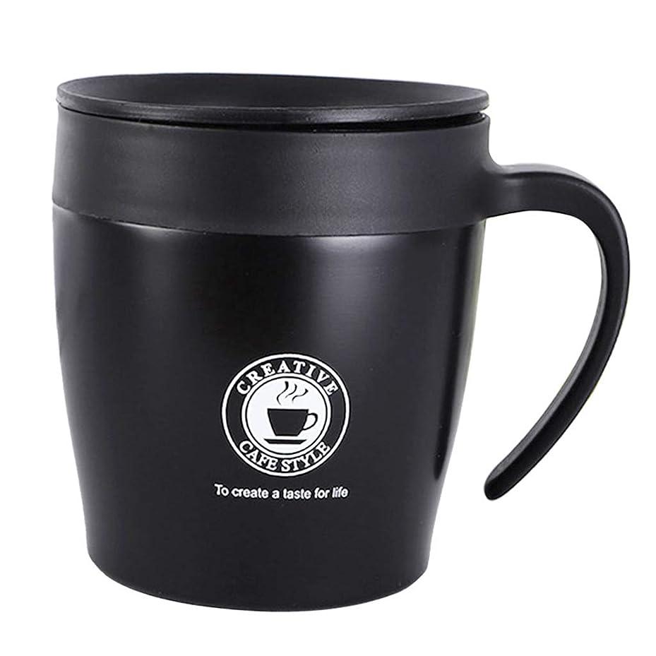過ち資格スペシャリスト保温マグカップ コーヒーカップ エスプレッソ 真空カップ 二重壁 全5色 - ブラック
