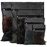 Lot de 5 sacs à linge pour machine à laver - Filet à linge avec fermeture éclair pour chemisier, soutien-gorge, robe, t-shirt, pantalons, sous-vêtements, jeans, manteaux, rideaux, linge de lit