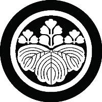 家紋シール 丸に五三桐紋 直径4cm 丸型 白紋 4枚セット KS44M-0531W