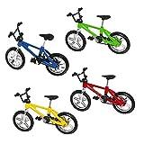 4pcs Creativo Dedo De Bicicletas De Juguete Mini Toy De Bicicletas Simulado Aleación Modelo De Moto En Miniatura Simulado Vehículos Todo Terreno Bicicletas Modelo Decoración Del Escritorio Para La