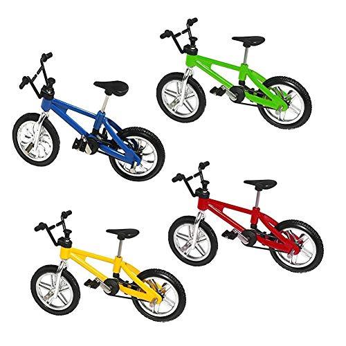 Mini Toy de bicicletas simulado bici de la aleación Modelo creativo dedo miniatura juguete de la bici simulado Vehículos todo terreno bicicletas Modelo decoración del escritorio Decoración A