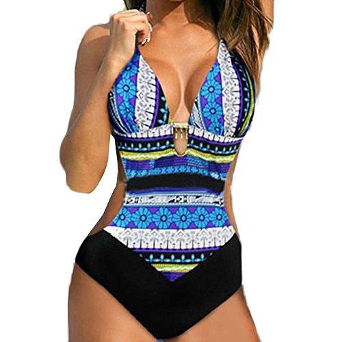 Fannyfuny_Bikinis Mujer Bañadores de Mujer Trikinis Mujer Bañadores Mujer Sexy Bikini Mujer Cintura Alta Push up Traje de Baño de Uno Pieza Conjunto Delgadas