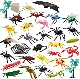 OOTSR 32 Piezas Insectos de plástico Bichos Figuras variadas realistas Juguetes de Insectos realistas Hechos PVC Calidad para niños Fiesta de cumpleaños temática de Insectos educativos y favores