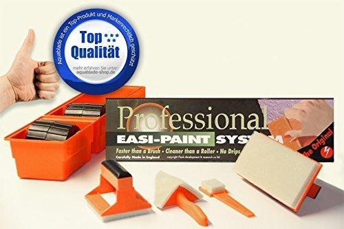 Aquablade Professional Easi Painter System inkl. 3-teiliger Verlängerungsstiel (ca. 52cm) - Spezial Malerwerkzeug für Profi und Heimwerker - Kein Tropfen – Kein Klecksen – Kein Spritzen