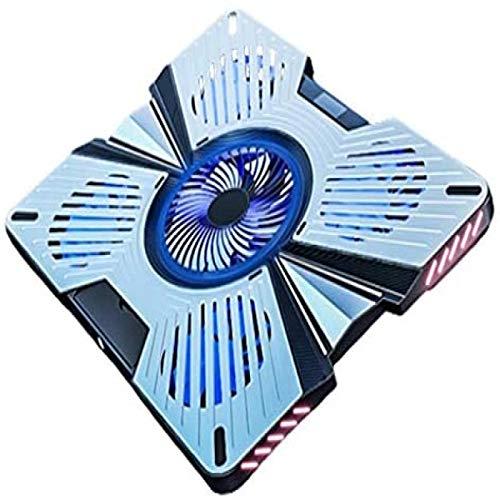 Haohaojia Bases de refrigeración para portátiles y netbooks Enfriador de portátil para portátil de 12'-17' con Velocidad de Ventilador Ajustable, 2 Puertos USB 5 Ventiladores silenciosos