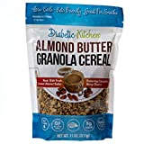 Diabetic Kitchen Almond Butter Granola Cereal, 4g Net Carbs, No Sugar Added, Keto Friendly, Low...