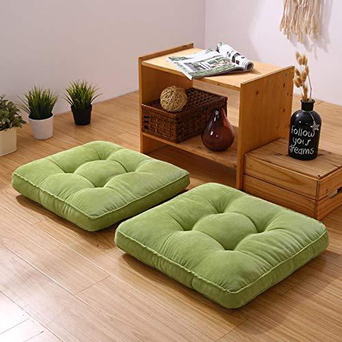 YXYLQ Cuscino Sedia Tondo futon in Tessuto di lino-42 * 42 * 7 cm / Quadrato_Verde Militare