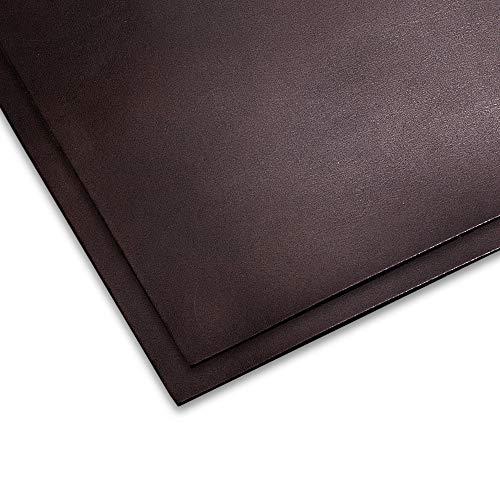 【2枚セット】チョコ オイル ヌメ革 姫路レザー A4 1.5mm 革 ヌメ はぎれ レザークラフト 材料 国産 タンニン鞣し