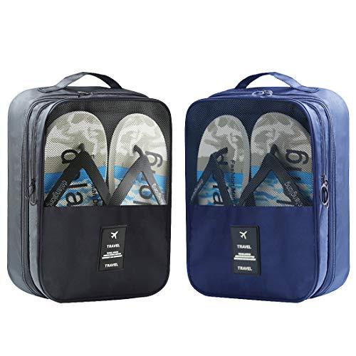 Reisetaschen, 2 Stück Schuhaufbewahrungsbeutel, Organizer für 3 Paar Schuhe, für Damen und Herren