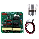 Exanko Ac 110V 100W 40K Ultrasónico Tablero De Conductor De Potencia De Limpiador + 1 Piezas 60W 40K Transductor Para Ultrasónico Maquinas De Limpieza