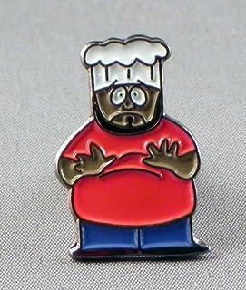 """Spilla in metallo smaltato Southpark Jerome, """"Chef"""" McElroy (cartone animato TV South Park)"""