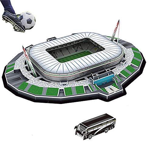 Puzzle di Stadio di Calcio 3D Diversi Paesi Campo di Calcio Modello Mostra | Top Model Divertimento Carta Fai da Te, Costruzione 3D Giocattolo Stadio di Calcio (Juventus Stadium)