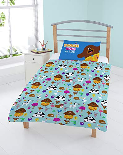Coco Moon Hey Duggee Animal Reversible Junior Toddler Junior or Cot Bed Size Duvet Cover and Pillow Set for Kids Ideal Prime Gift