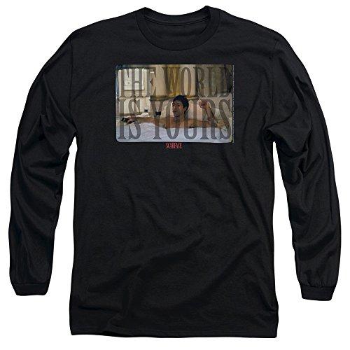 Scarface - Herren Badewanne Langarm T-Shirt, X-Large, Black