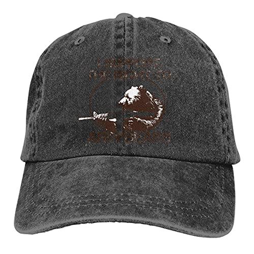 QUEMIN Apoyo el Derecho a armar Osos Gorras de béisbol Ajustables Unisex Sombreros de Mezclilla Deporte de Vaquero al Aire Libre