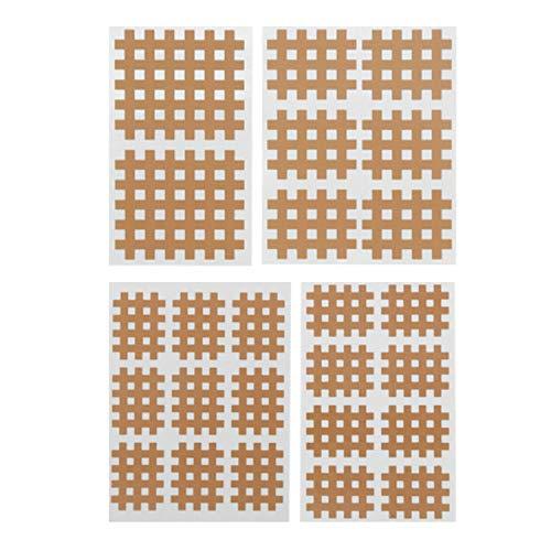 Winthai Tape Kinesio,20 Blatt Gitterpflaster Schmerzpflaster,Tape Kreuzband-Schmerzlinderung Kreuzschraffurpflaster Triggerpunkte für Verspannte Muskeln Muskelkater akupunkturpflaster Khaki