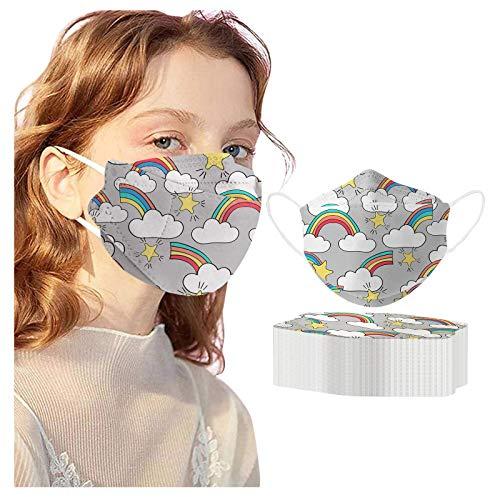 Kuailema Adult Unisex Zahnschutz kann Nicht wiederverwendet Werden, Regenbogen gedruckt Turban Schal Outdoor-Schutzwerkzeug Fisch-förmige personalisierte Dekoration