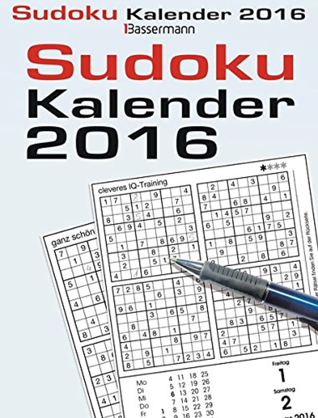 フローティング代表して機動Sudokukalender 2016 Abreisskalender
