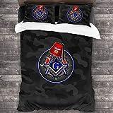 N \ A Masonic Series Shriner Fez - Juego de funda de edredón y fundas de almohada (3 piezas, 86 x 70 pulgadas)