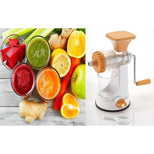 Biaba Collection Fancy Fruit Hand Juicer Ganesh Fruit & Vegetable Clear Barrel...