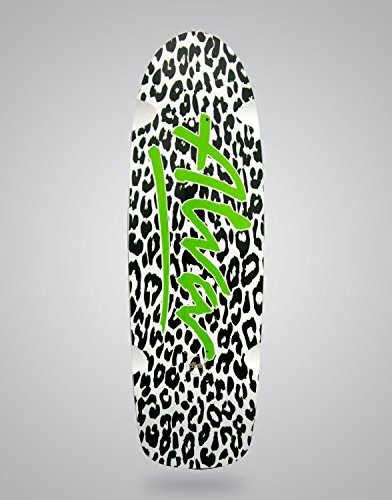 Alva Monopatín Skate Skateboard Old School Leopard White Green 10x32