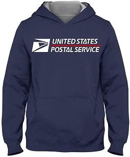 USPS Hoodie postal hoodie United States Service Eagle T shirt (M, Royal Blue)