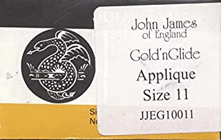 Colonial Needle JJEG100-11 Gold'n Glide Applique Hand Needles, Size 11, 10-Pack