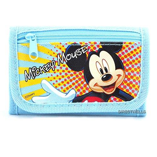 Disney Mickey Mouse Portefeuille 3 plis Bleu clair
