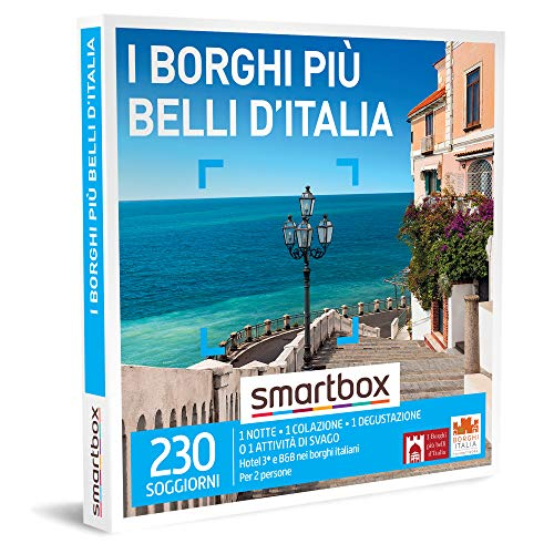 Smartbox - I Borghi Più Belli D'Italia - Cofanetto Regalo Coppia, 1 Notte con Colazione e Degustazione o Attività di Svago per 2 Persone, Idee Regalo Originale