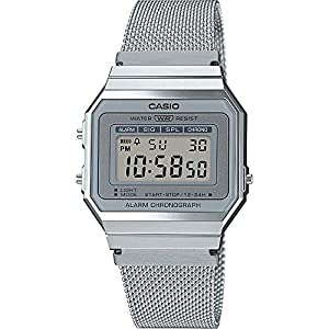 Casio Collection Watch A700WEM-7AEF Unisex Silver Stopwatch