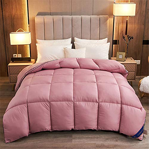 YCDZ Bedding Goose Down Duvet, Quilt, Thick and Warm Big Goose Feather Quilt, Soft and Hypoallergenic, The Higher The down Content, The More Luxurious The Duvet. (Purple,150 x 200 cm 4kg)