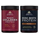 Ancient Nutrition Multi Collagen Protein + Bone Broth Protein Chocolate Bundle