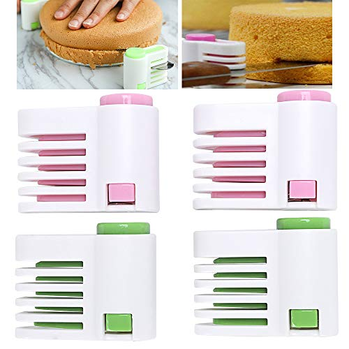 4 Pezzi Anello Taglia Torte Regolabile, 5 Strati Regolabile Fai da Te Taglierina, Ideale per Creare e Decorare Torte e Pasticcini, Utensili da Cucina