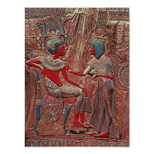 CiCiDi Póster de la parte posterior del trono de Tutankamón, decoración de pared de 40,6 x 60,9 cm
