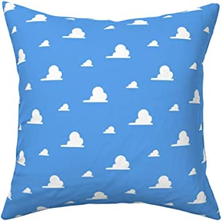 MrRui Decorative Pillow Covers Clouds Story Toy Square Cushion Cover Cotton Throw Pillow Covers Home Decor for Sofa Car Bedroom 18x18 Inch