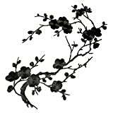 1pcs Big Plum Blossom Iron On Patches Embroidery Flower Appliques 14.1