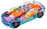 Multifunctional Car with Gear and Electric all inclusive driving, bright lighting, reproduction gear mechanical framework, lovely audio cues. 3D Super Transparent Toy Car with 360 Degree Rotation, Gear Technology, Sound and Light Straightforward plan...