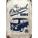 Nostalgic-art-bilderpalette 22188 volkswagen vW the original ride bulli plaque en métal 30 x 20 cm