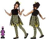 ATOSA disfraz abeja niña infantil amarillo negro 5 a 6 años